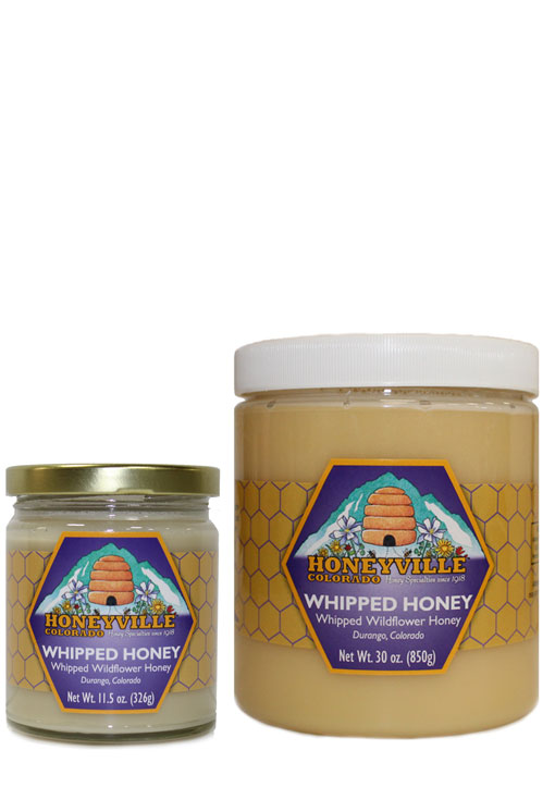 NATURAL WHIPPED HONEY - 30 OZ PLASTIC TUB