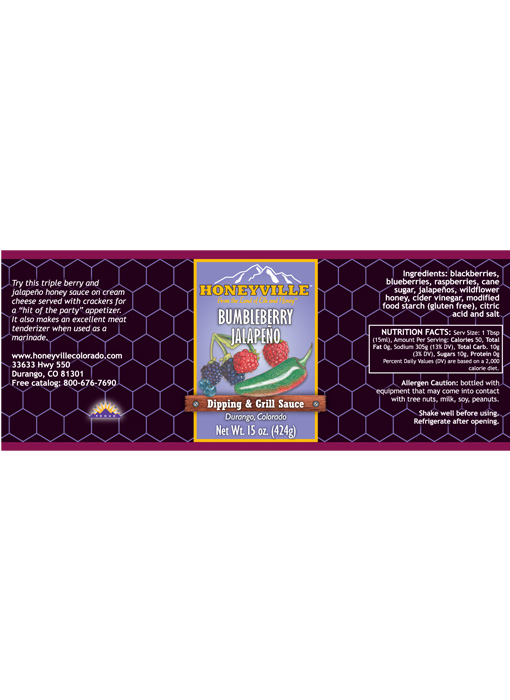 Honeyville Hand Crafter Bumbleberry Jalapeno Syrup