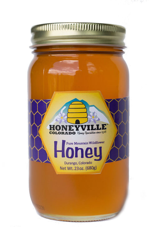 GLASS JAR: MOUNTAIN WILDFLOWER HONEY 23 OZ