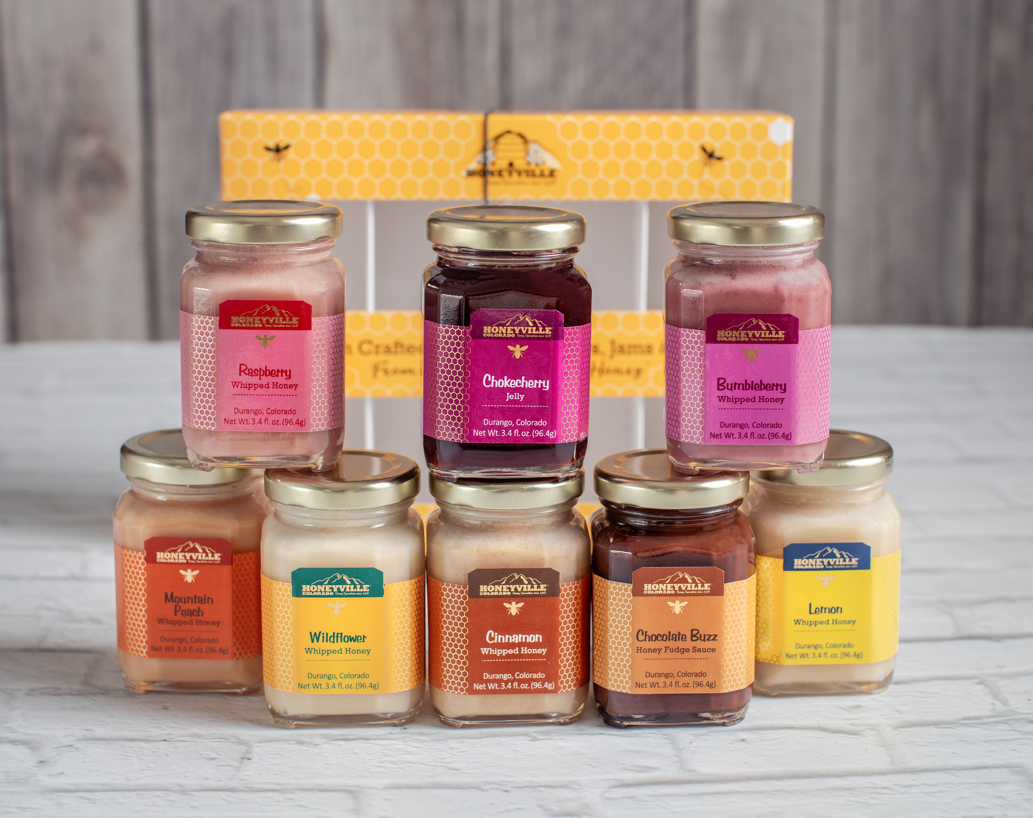 GIFT BOX:  MINI SAMPLER 8 JARS