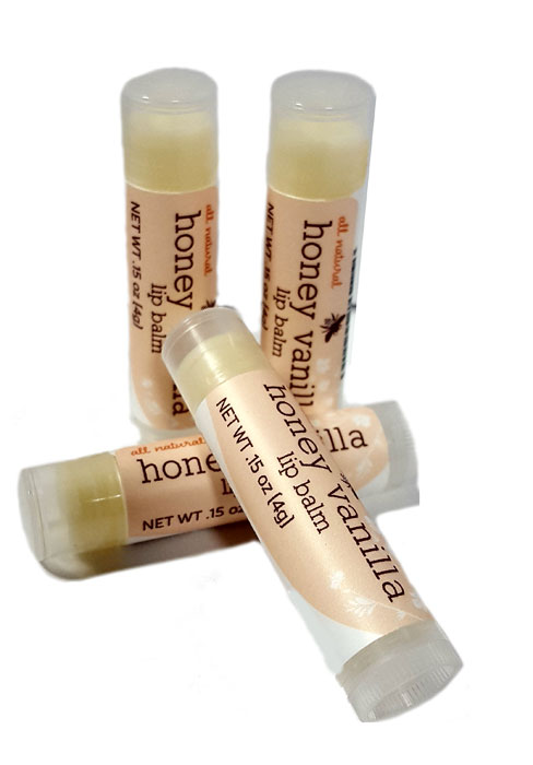 4 Pack - Honey Vanilla Lip Balm